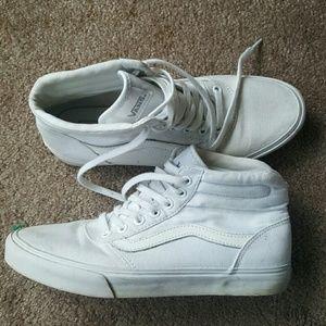 Women's Vans white high top sneakers sz 7.5